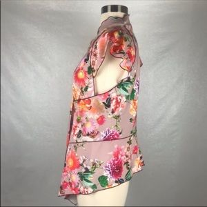 Zara Tops - Zara Woman Floral Ruffle Sleeve Blouse Size Medium